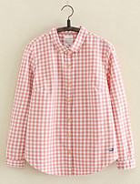 cheap -women's going out shirt - plaid shirt collar
