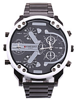 cheap -SHI WEI BAO Men's Sport Watch / Military Watch Chinese Calendar / date / day / Compass / Dual Time Zones Stainless Steel Band Casual / Fashion Black