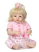 Недорогие -NPKCOLLECTION Куклы реборн Девочки 24 дюймовый Полный силикон для тела / Силикон / Винил - Искусственные имплантации Голубые глаза Детские Девочки Подарок