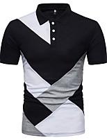 abordables -Polo Homme, Couleur Pleine Noir & Blanc