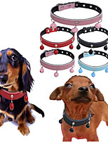 cheap -Dogs / Cats / Furry Small Pets Collar / Dog Training Collars / Necklace Portable / Mini / Trainer Solid Colored Genuine Leather Red / Blue / Pink