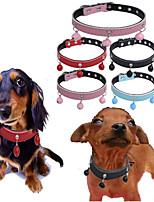 abordables -Perros / Gatos / Animales Pequeños de Pelo Cuello / Collares de Entrenamiento para Perros / Collar Portátil / Mini / Entrenador Un Color piel genuina Rojo / Azul / Rosa