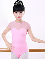 abordables -Danse classique justaucorps Fille Entraînement / Utilisation Coton Combinaison Manches Courtes Taille moyenne Collant / Combinaison