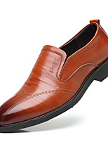 cheap -Men's Formal Shoes Cowhide Fall Oxfords Striped Black / Brown / Party & Evening / Novelty Shoes