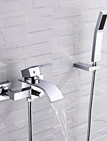 cheap -Bathtub Faucet - Contemporary Chrome Wall Installation Ceramic Valve