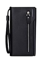 cheap -Men's Bags PU(Polyurethane) Wallet Zipper Coffee / Brown / Dark Red