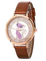 baratos -Mulheres Relógio Elegante / Relógio de Pulso Chinês Relógio Casual / Adorável / imitação de diamante PU Banda Casual / Fashion Preta /