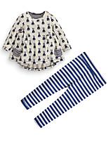 cheap -Toddler Girls' Print Long Sleeve Clothing Set