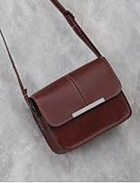 cheap -Women's Bags PU(Polyurethane) Shoulder Bag Buttons Gray / Dark Grey / Wine
