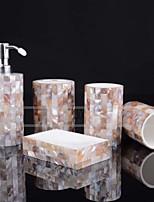 abordables -Set d'Accessoires de Salle de Bain Mignon / Créatif Résine / PVC 5pcs - Salle de Bain Simple