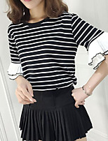 cheap -Women's Basic T-shirt - Striped