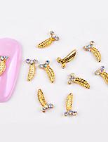 Недорогие -10 pcs Стразы для ногтей Модный дизайн маникюр Маникюр педикюр металлический / Инкрустация камнями и кристаллами