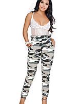 cheap -Women's Daily Basic Legging - Camouflage High Waist