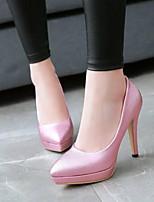 baratos -Mulheres Sapatos Sintéticos Primavera Conforto Saltos Salto Agulha Dourado / Prateado / Rosa claro