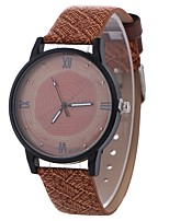 cheap -Women's Dress Watch / Wrist Watch Chinese Creative / Casual Watch / Large Dial PU Band Casual / Fashion Black / Red / Brown