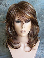 cheap -Synthetic Wig Curly Burgundy Layered Haircut Synthetic Hair Party Burgundy Wig Women's Long Capless