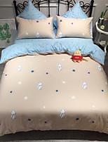 preiswerte -Bettbezug-Sets Cartoon Design 100% Baumwolle Bedruckt 4 Stück