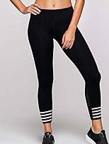 abordables -Mujer Diario Básico Legging - Un Color Media cintura