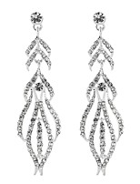 cheap -Women's Cubic Zirconia Long Drop Earrings - Sterling Silver Drop Classic, Elegant Silver For Wedding / Evening Party