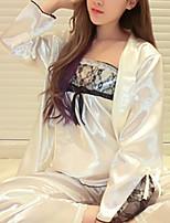 abordables -Asymétrique Costumes Pyjamas Femme Broderie