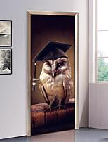 abordables -Calcomanías Decorativas de Pared / Pegatinas de puerta - Holiday pegatinas de pared Animales / 3D Sala de estar / Dormitorio