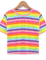 cheap -Women's Going out T-shirt - Rainbow
