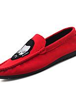 abordables -Homme Chaussures Coton Eté Moccasin / Semelles Légères Mocassins et Chaussons+D6148 Noir / Rouge