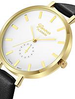 Недорогие -Geneva Жен. Нарядные часы / Наручные часы Китайский Новый дизайн / Повседневные часы / Cool Кожа Группа На каждый день / Мода Черный