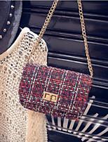 cheap -Women's Bags PU(Polyurethane) Shoulder Bag Buttons Blue / Black / Red