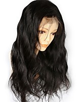 cheap -Remy Human Hair Lace Front Wig Wig Brazilian Hair Wavy 130% Density With Baby Hair / Soft / Natural Hairline Natural Women's Short / Long / Mid Length Human Hair Lace Wig