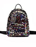 cheap -Women's Bags PU(Polyurethane) Backpack Sequin Silver / Purple / Rainbow