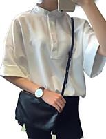 Недорогие -Жен. На выход Рубашка Воротник-стойка Однотонный