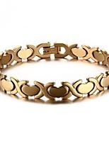abordables -Homme Bracelet - Inoxydable Cœur Mode Bracelet Or / Argent Pour Cadeau / Quotidien