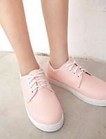 cheap -Women's Shoes PU(Polyurethane) Spring & Summer Comfort Sneakers Flat Heel Closed Toe Black / Pink / Almond
