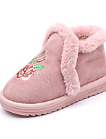 cheap -Girls' Shoes Polyester Winter Snow Boots Boots Walking Shoes for Kids Black / Yellow / Pink / Booties / Ankle Boots