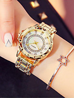 cheap -Women's Dress Watch / Wrist Watch Japanese New Design / Casual Watch / Imitation Diamond Stainless Steel Band Fashion / Elegant Silver / Gold / Rose Gold / Sony SR920SW / Two Years