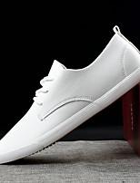 Недорогие -Муж. Полиуретан Лето Удобная обувь Кеды Белый / Черный
