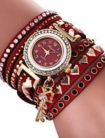 economico -Per donna Orologio braccialetto Cinese Orologio casual / Adorabile / imitazione diamante PU Banda Heart Shape / Stile Boho Nero / Bianco