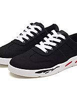 cheap -Men's Canvas Spring &  Fall Comfort Sneakers White / Black / Gray