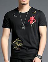 preiswerte -Damen Solide - Retro T-shirt Quaste Schwarz & Weiß