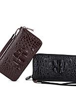 cheap -Unisex Bags PU(Polyurethane) Wallet Zipper Brown / Black Grey / Dark Brown