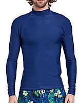 abordables -SBART Hombre Protección para Erupciones Protección solar UV, Compresión Licra / Chinlon Manga Larga Bañadores Ropa de playa Protección para Erupciones Natación / Surfing / Deportes acuáticos