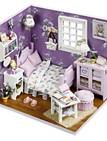 cheap -Dollhouse with LED Light Romantic 1 pcs Pieces Teenager Gift