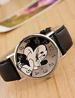 cheap -Women's Wrist Watch Chinese Casual Watch / Lovely Leather Band Cartoon / Fashion Black / White / Blue