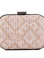 cheap -Women's Bags PU(Polyurethane) Evening Bag Buttons / Pattern / Print Dark Blue / Almond / Coffee