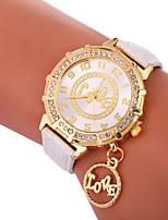 cheap -Xu™ Women's Dress Watch / Wrist Watch Chinese Creative / Casual Watch / Lovely PU Band Fashion / Word Watch Black / White / Blue