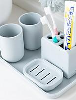 abordables -Set d'Accessoires de Salle de Bain Design nouveau Moderne Plastique 6pcs - Salle de Bain Simple