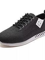 cheap -Men's Shoes Fabric Fall Comfort Sneakers White / Black / Beige