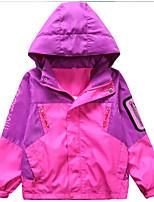 Недорогие -Дети Девочки Контрастных цветов Длинный рукав Куртка / пальто