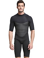 cheap -Men's Shorty Wetsuit 2mm SCR Neoprene Diving Suit Anatomic Design, Stretchy Half Sleeve Back Zip Solid Colored Autumn / Fall / Spring / Summer